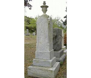 Pedestal Headstone with Urn