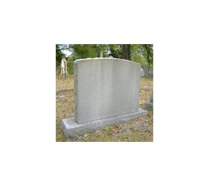 Die on Base Headstone